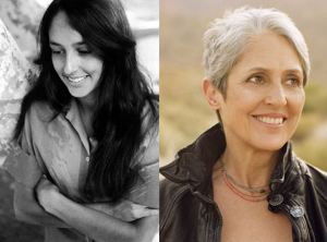 Joan Baez then and now